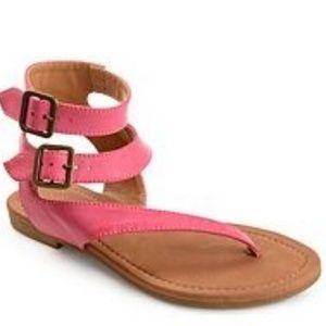 Kylie Flat Coral Pink Strap Sandal